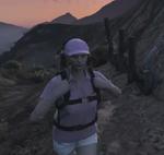 Stacy on hike