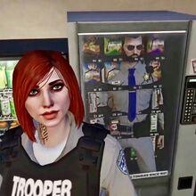 Snow in vending machine with Cooper selfie.jpeg