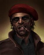 Denzel beret portrait fanart