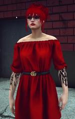 Mary Mushkin 3.0 RedBardotDress
