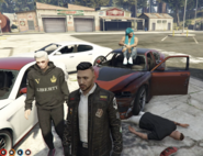 Post Hayes-500 with Wolfie, Vincent, Blue and Chain