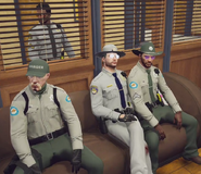 Barry, Snow, Mack and Ziggy listening to Tea