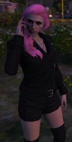 Erin Long Pink Hair