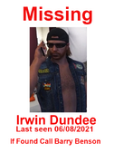 Dundee missing poster