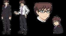 Дизайн Казумы в аниме.