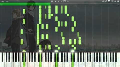 Synthesia Hello Sleepwalkers - Goya no Machiawase (Opening) Piano Noragami