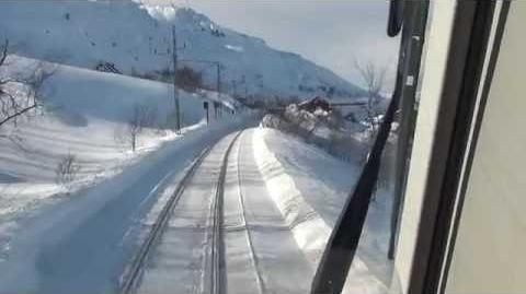 Malmbanan winter 2013 LKAB IORE (Sweden) cabview IORE 120
