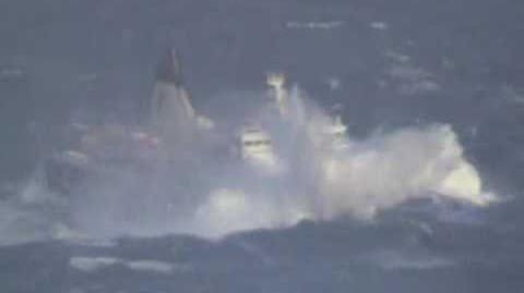 Passenger Ship Smyril in bad weather