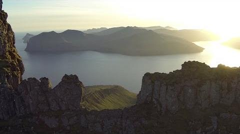 Sornfelli - Above the top of the mountains in the Faroe Islands
