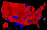 United States presidential election results by congressional district, 2008 (Ferguson Scenario)