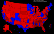 United States presidential election results by congressional district, 2020 (Ferguson Scenario)