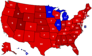 Romney 2008 States Map