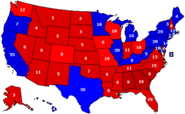 Haley 2020 Electoral Map with Percentages