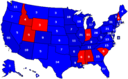 2004 Percentages and Electoral Votes Map