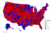 United States presidential election results by county, 2020 (Tilden Map)