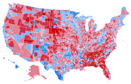 United States presidential election results by county, 2020 (Wikipedia Version)