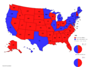 Haley 2020 States and Pie Charts Map