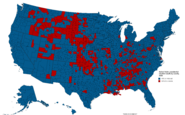 United States presidential election by county, 2020