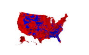 2016 Presidential Election County Map (Leip Version)