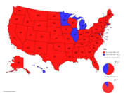 Romney 2008 States-Charts Map