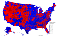 United States presidential election results by county, 2004 (Ferguson Scenario)