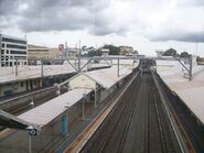 Hornsby railway station platforms from footbridge