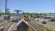 Waratah Station Upgrade time lapse showing lift shaft installation