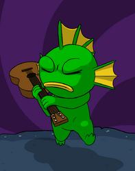 Fish guitar hero