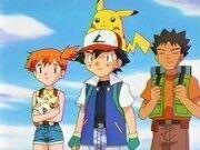 Ash viajando por Kanto