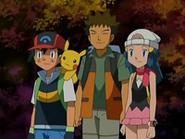 EP528 Ash, Brock y Maya