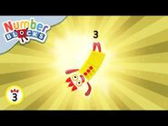 @Numberblocks - Three Club - Numbers Are Everywhere - Educational - Learn to Count