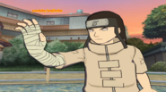 Neji holds out his hand
