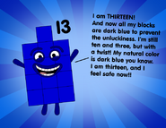 Numberblock 13 without the ten and three-01