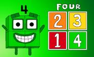 Numberblock 4 (4 Squares)
