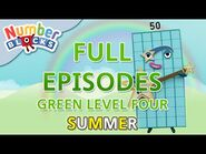 -SummerLearning Numberblocks - Green Level Four - Full Episodes 4-5 - Learn to Count -WithMe