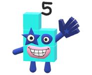 3D Numberblock 5
