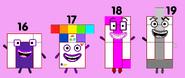 Numberblocks 16-19 (Real)