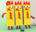 Three Threes in Hiccups