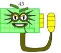 Numberblock 43 (Rattlesnakeblock)