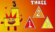 Numberblock 3 (3 Triangles)