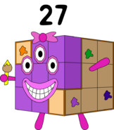 Numberblock 27 as a cube