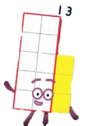 Numberblocks Vector Thirteen(Unlucky Number)