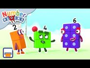 @Numberblocks - Even Tops Club - Numbers Are Everywhere - Educational - Learn to Count