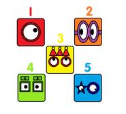 Numberblock Faces 1-5