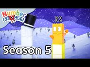 @Numberblocks - Full Episodes - S5 EP21- Snow Day Doubles