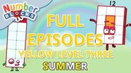 SummerLearrning Numberblocks - Yellow Level Three Full Episodes 1-3 Learn to Count WithMe