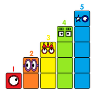 Numberblock Faces 1-5 V2