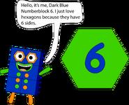 Example of Numberblock 6
