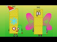 Numberblocks The Rest of 300s to 350s