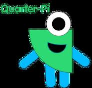 Numberblock Quarter-Pi